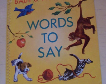 baby's first abc words to say cloth book