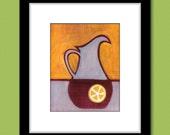 Southern Sweet Tea Pitcher Painting Kitchen Art Print