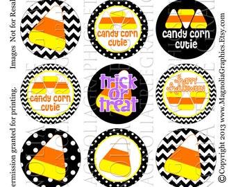 Bottle Cap Digital Images Candy Corn Cutie