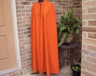 Big Orange Cape--The great pumpkin--cape only,  Renaissance, Victorian