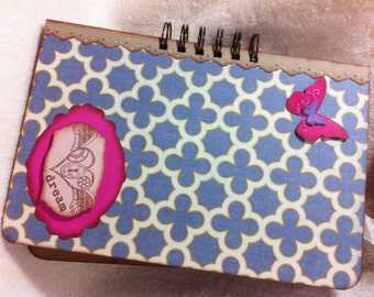 Junque Journal...Very Chic and Sassy Dream Altered Art Junque Journal Premade Mini Album Homemade Smash Book