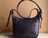 Vintage Coach Classic Black Shoulder Bag