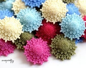 SALE 4pc snowflower resin flower cabochon mix 36mm, perfect for making hairpins, headbands, brooches