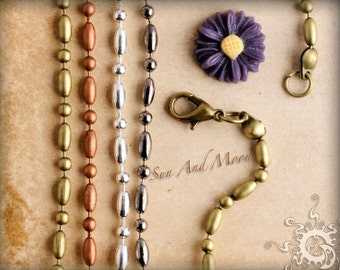 10 Vintage Dot Dash Necklaces ~ Ball Chains ~ Link Necklaces ~ Great For Our Pendant Tray Settings ~ WHOLESALE