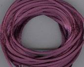 Satin Cord -Plum- Rayon Rattail 12 yards, (Made in USA)