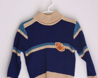 Vintage children's sweater football 2t 3t