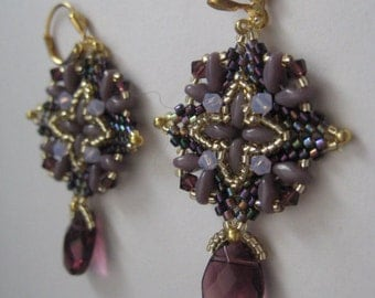 Super Square Earrings in Shades of Amethyst Designed by Ellad2 Made by ME