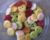 50 Mixed Small Autumn Yellow Orange Buttons