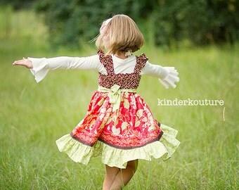 Cranberry Avalon Dress  Girls Flutter Sleeve Dress