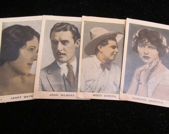 Gorgeous Cigarette Cards 1920's Film Favourites Actresses Ephemera