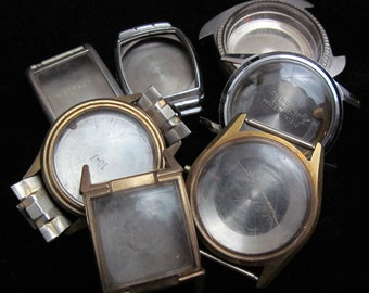 Vintage Antique Steampunk Watch Cases Altered Art Industrial  PS 27