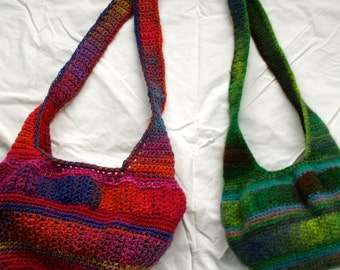 Crochet Pattern- Noro Kureyon Felted Hobo Bag