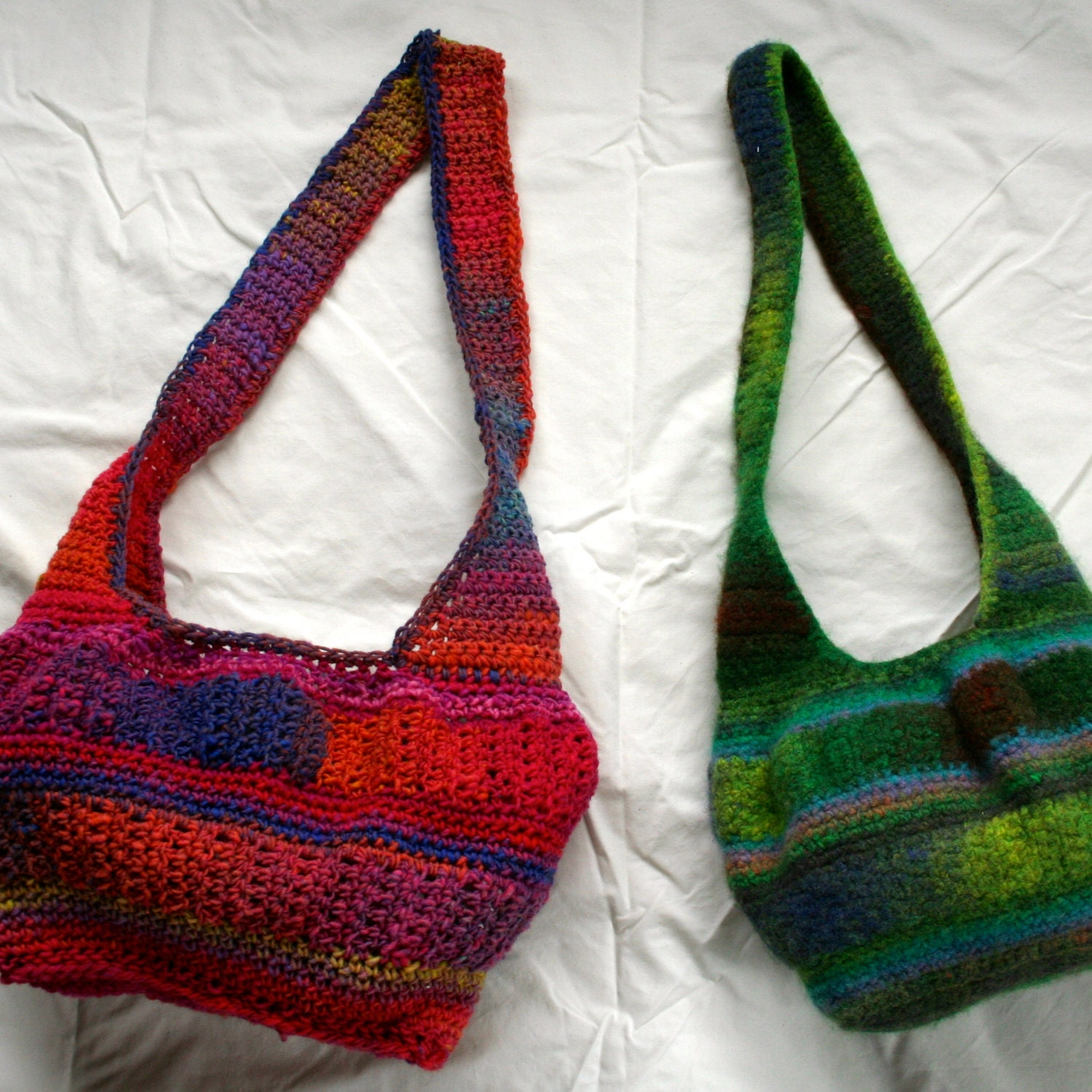 Crochet Felted Tote Bag Pattern : Crochet Pattern Noro Kureyon Felted Hobo Bag