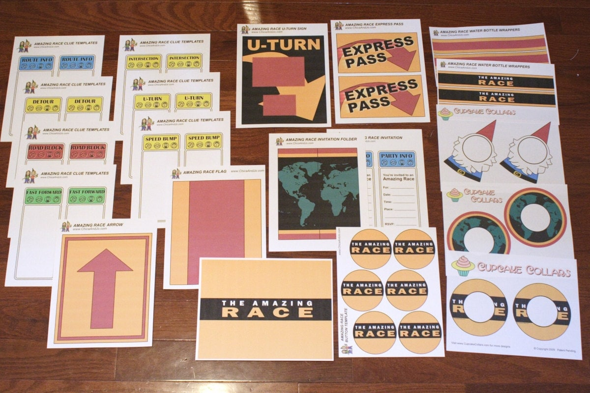 the amazing race clue template - the amazing race party printables digital by chicaandjo on