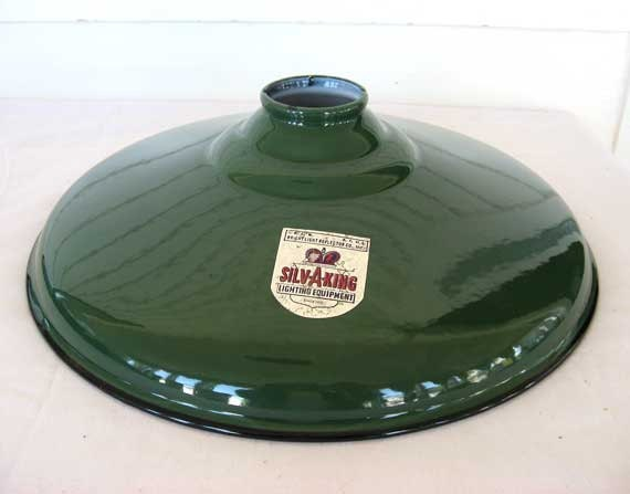 Vintage 1940 S Silvaking Green Industrial Porcelain Coated