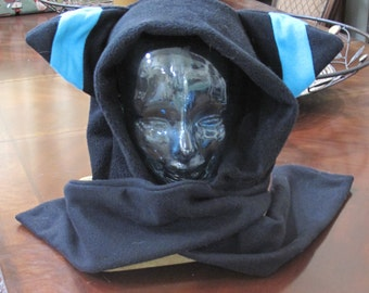 Cosplay Shiny Umbreon  fleece scarf hoodie ear hat