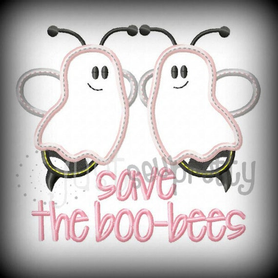 Save The Boo Bees Bc Embroidery Applique Design