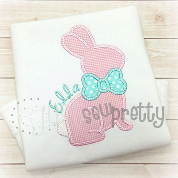 Chocolate bunny easter embroidery applique design