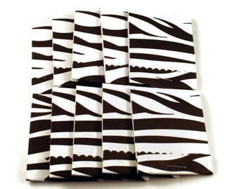 Matchbook Notepads Matchbook Favors in  Zebra Set of 20