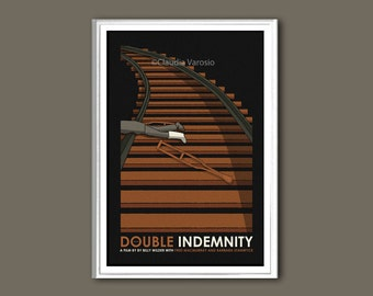 Movie poster Double Indemnity 12x18 inches movie poster
