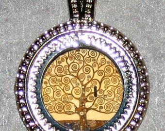 Klimt TREE of Life Frame Pendant
