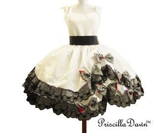 Alternative Wedding Gown with Lepard bows Custom in your size Prom Dress