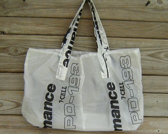 Reusable Nylon Ripstop Parachute Market Bag  PD Wings Logo