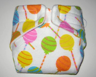 Free Diaper Wipe-Baby Doll Diaper-Sweet Lollipops-Fits Bitty Baby,Baby Alive, Cabbage Patch, American Girl Dolls and More