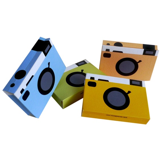 items similar to retro camera greetings card set of four