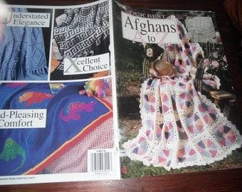 Crocheting Patterns Afghans A to Z Leisure Arts 3014 Crochet Pattern Booklet