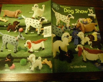 Dog Plastic Canvas Patterns Dog Show American School of Needlework 3127 Plastic Canvas Pattern Leaflet