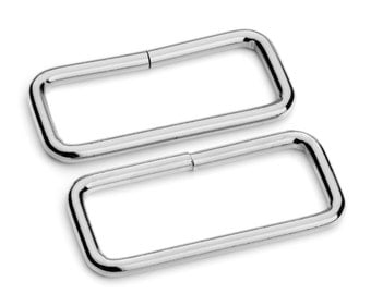 "50pcs - 2"" Metal Square Ring - Nickel - (SQUARE RING SRG-132)"