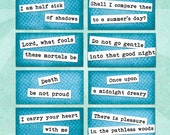 POETRY QUOTES Digital Collage Sheet 2x1in Printable Download - no. 0034