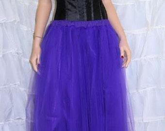 Dark Purple Floor Length Tulle Skirt Adult All Sizes MTcoffinz