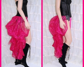 Fuchsia Hot Pink Lace Bustle Wrap MTCoffinz - All Adult Sizes