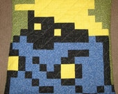 Black Mage Quilted Pillow Cover