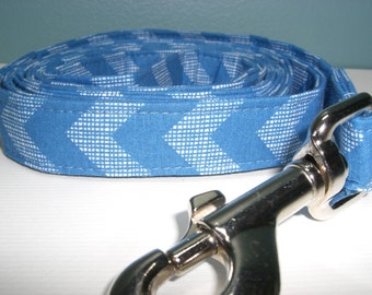 Sky Blue Chevron Dog Leash