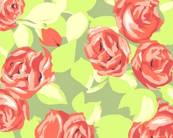 Cotton Quilting Fabric | Amy Butler fabric | Love Tumble Roses Tangerine