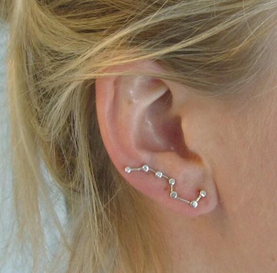 Constellation Ear Pin Silver Earrings Big Dipper By