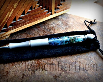 Lampwork Glass Writing Pen, Perfect Graduation or Retirement Gift, for Him, Made to Order