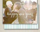 Photo New Year Card, printable - fun new year.
