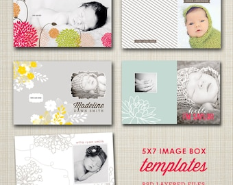 5x7 image box templates for photographers