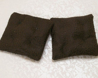 Faux Leather Brown Cushions Pillows 1:12 Dollhouse Miniatures Scale Artisan