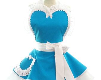 Retro Apron - Wedding Apron - Womans Apron - Vintage Apron - Pin up Apron - Bridesmaid Apron - Bridesmaid Gift - Womens Apron - Bridal Apron