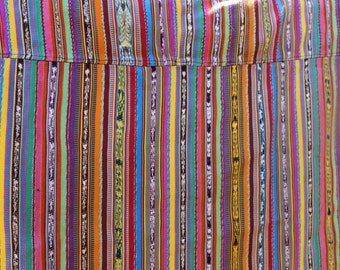 Vintage Guatemalan Corte Mayan Skirt Festival Tablecloth Mexican Serape Festival Wear Hippie Boho Fabric