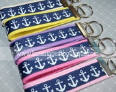 Navy Anchor Key Fob - Choose Your Color