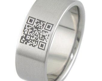 QR Code Titanium Ring