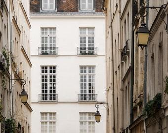"""Paris Photography, """"Rue St. Louis"""" Paris Print, Large Art Print Fine Art Photography, Apartment Art for Her"""
