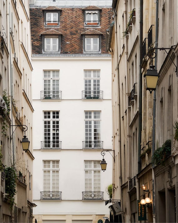 "Paris Photography, ""Rue St. Louis"" Paris Print, Large Art Print Fine Art Photography, Apartment Art for Her"