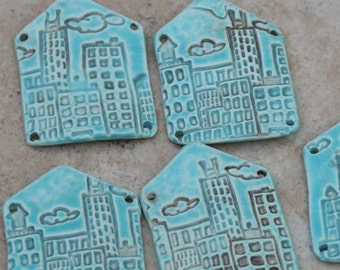 Spacious Skies Pottery Bead Little House in the City